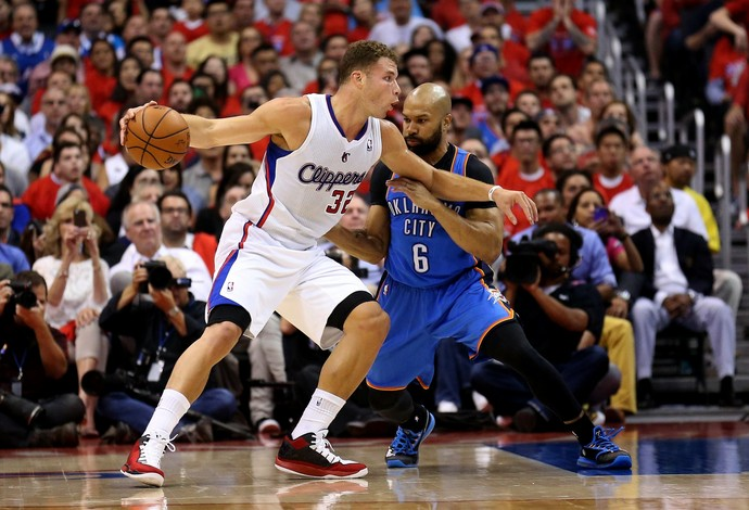 Blake Griffin, NBA, Los Angeles Clippers x Oklahoma City Thunder (Foto: Getty Images)