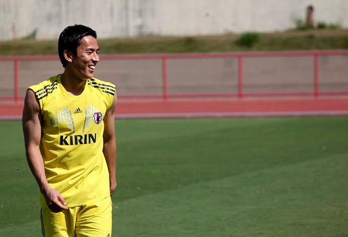 hasebe japão treino (Foto: Fabrício Marques)