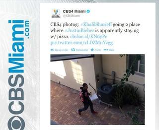 Repórter da CBS Miami posta foto de Khalil (Foto: Twitter / Reprodução)