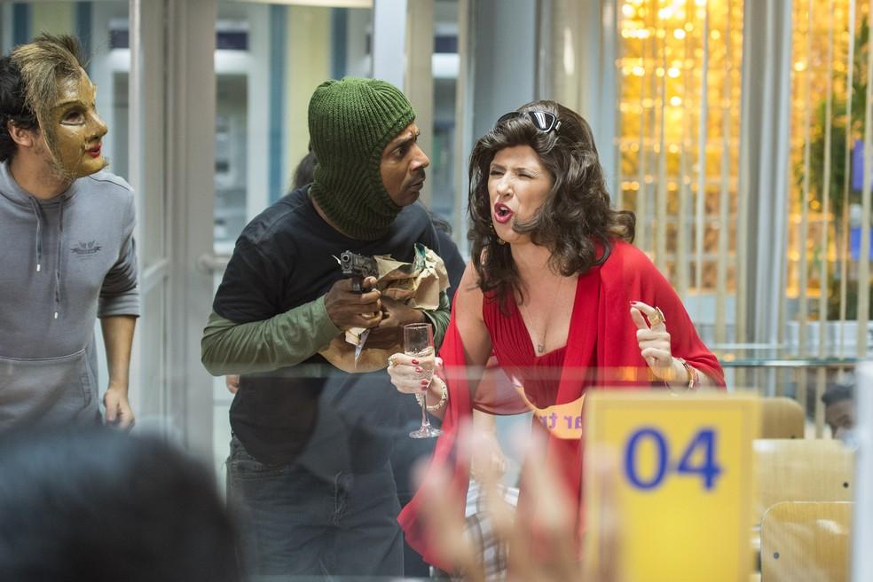 Luís Miranda em ação no 'Zorra', ao lado de Dani Calabresa (Foto: Mauricio Fidalgo / Globo)