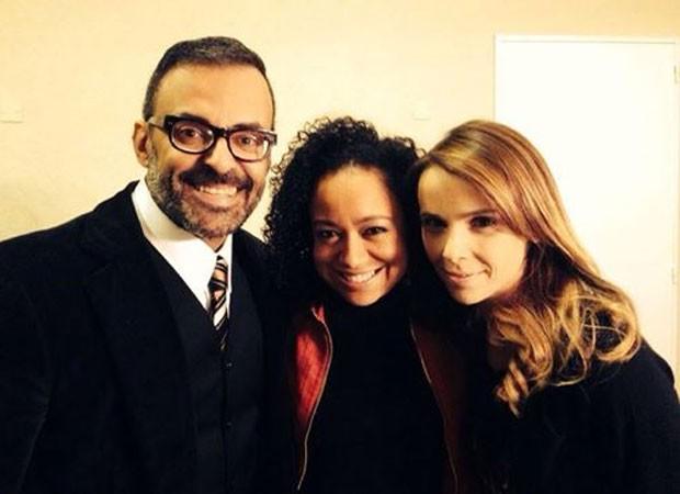 Roberto Monteiro, Aretha Oliveira e Débora Falabella (Foto: Reprodução)