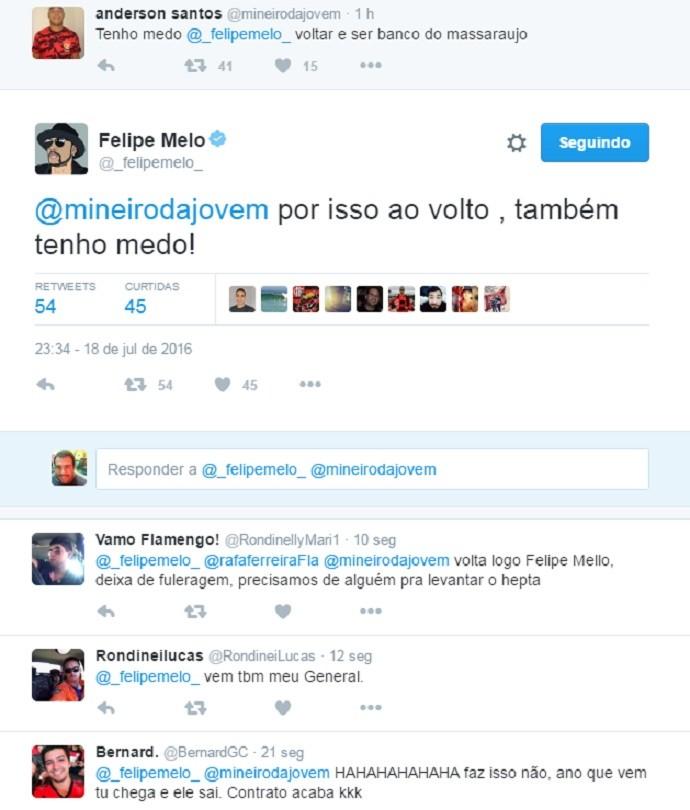 Felipe Melo diz ter medo de ser reserva de Márcio Araújo