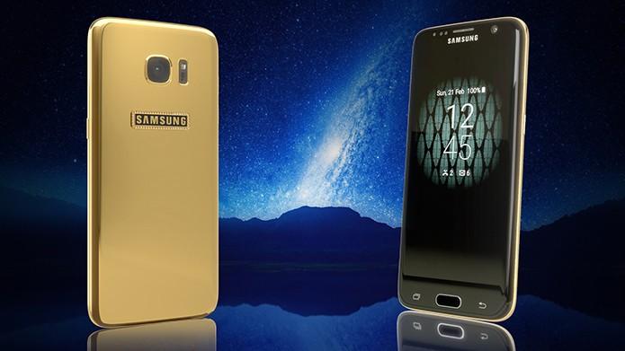 Legend vende Galaxy S7 com acabamento em ouro e 360 diamantes (Foto: Divulgação/Legend)
