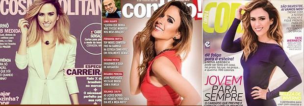 Pose de Tatá Werneck (Foto: Divulgação / Revista Corpo à Corpo - Revista Cosmopolitan - Revista Contigo)