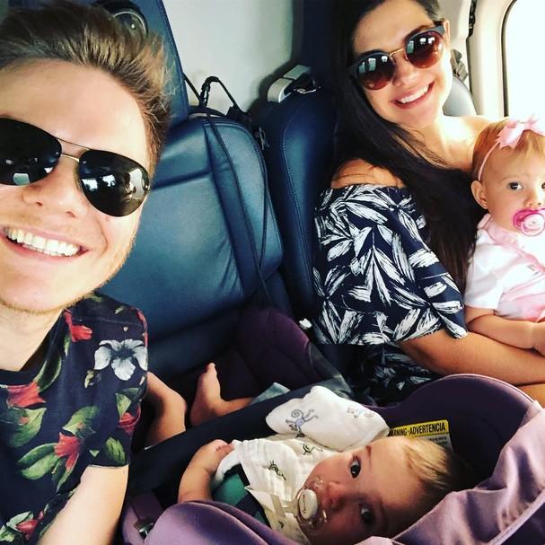 Michel Teló, Thais Fersoza e filhos (Foto: Instagram/Reprodução)