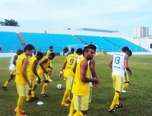 Jogadores do Santa Quitéria sonham com vaga na semifinal do primeiro turno (Foto: Afonso Diniz/Globoesporte.com)