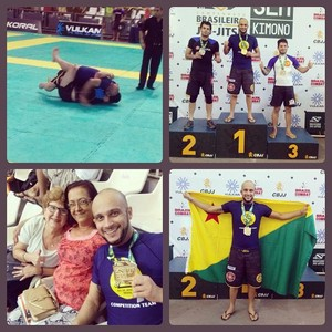 Leyf Barros é campeão no Brasileiro de Jiu-Jítsu sem Quimono (Foto: Leyf Barros/Arquivo pessoal)
