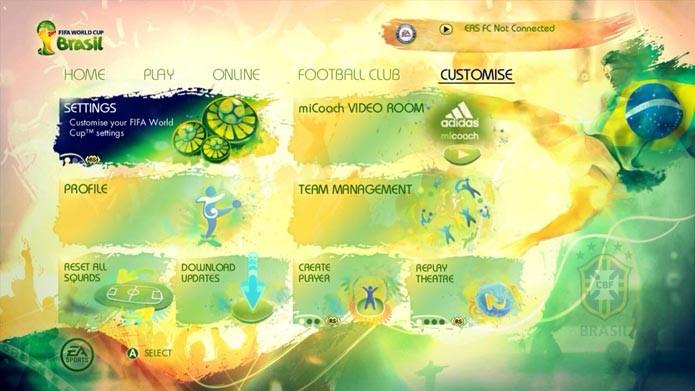 Copa do Mundo Brasil 2014: como mudar jogador e goleiro da arena de treino (Foto: Reprodução/Murilo Molina)