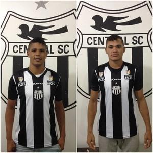 Zagueiro Éverton e atacante Romário, central (Foto: Divulgação / Central)