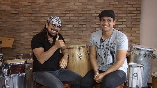 Cantor Bell Marques recebe a equipe do 'Combinado' em Salvador