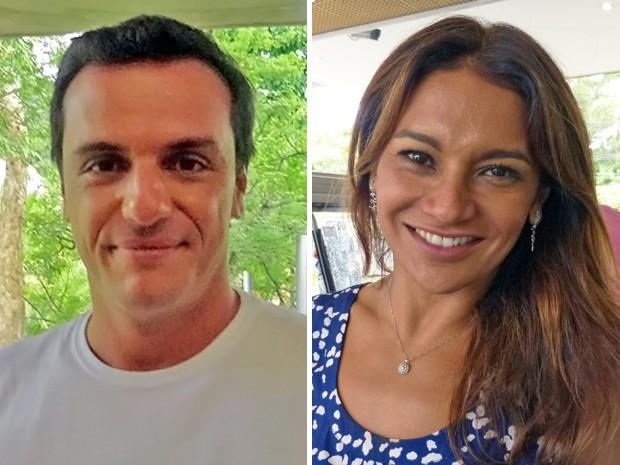 Rodrigo Lombardi e Dira Paes (Foto: TV Globo/ Mais Você)
