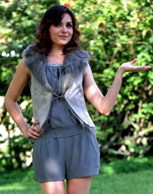 Monica se prepara para estrear na TV como atriz (Foto: Pedro Curi/ TV Globo)