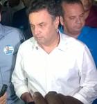 Aécio suspende agenda após notícia (Felipe Gibson/G1)