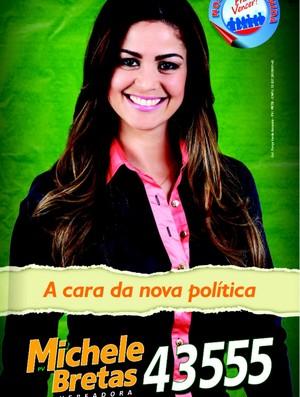 Michele Prado, Musa do São Paulo, eleita vereadora em Uberlândia (Foto: Reprodução/Facebook)