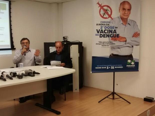 Governo estadual falou nesta quinta-feira (2) sobre a 2ª etapa da vacinação contra a dengue, que começa na sexta (3) (Foto: Divonzir Gonçalves / RPC)