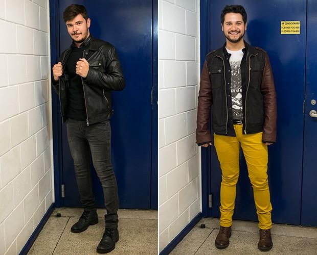 Ô lá em casa... Cantores desfilam estilos diferentes (Foto: Camila Serejo/Gshow)
