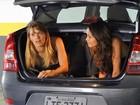 Carol Dieckmann e Nanda Costa gravam juntas até dentro de porta-malas