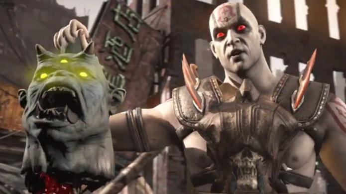 Quan Chi carrega a cabeça de um dos chefes do game (Foto: Reprodução)