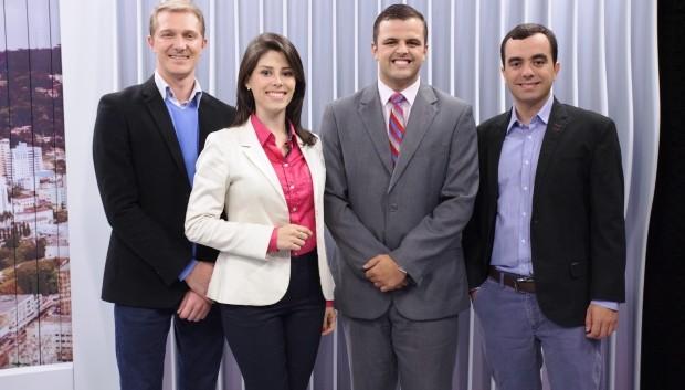Eduardo, Vanessa, Lucas e Victor vão atuar diretamente na cobertura da RBS TV (Foto: RBS TV/Divulgação)