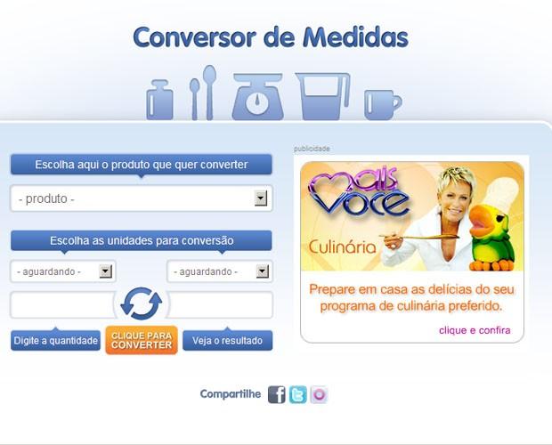 Conversor de medidas: para facilitar a sua vida na cozinha (Foto: Mais Você / TV Globo)