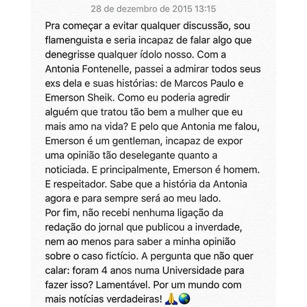 Jonathan Costa nega confusão com Sheik (Foto: Reprodução/Instagram)
