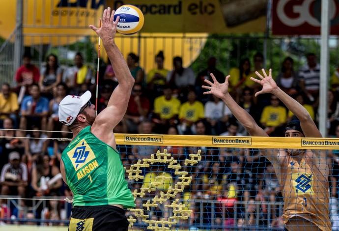 vôlei de praia Alison e Saymon (Foto: Divulgação / CBV)