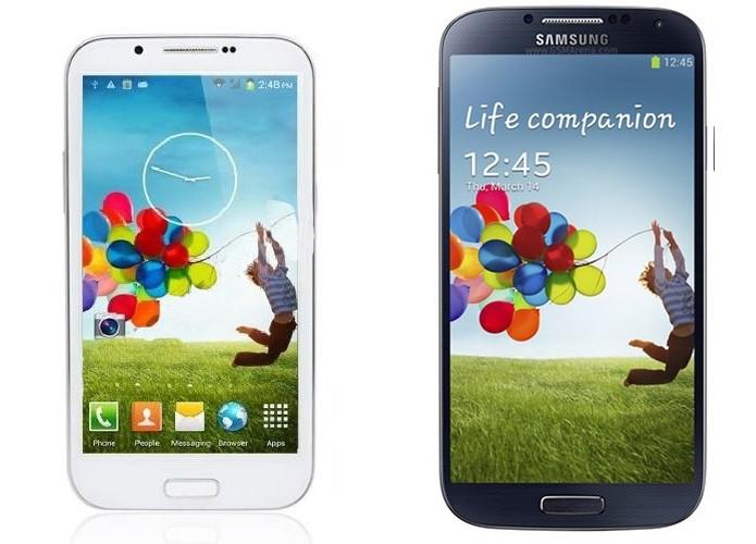 Galaxy S4 clonado pode ter design grosseiro (Foto: Reprodução/Paulo Alves)