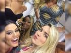 Susana Vieira posa com atrizes de 'A Regra do Jogo': 'Com as mandadas'