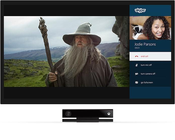 Skype do Xbox One permite conversar enquanto joga ou assiste filmes (Foto: Divulgação/Microsoft)