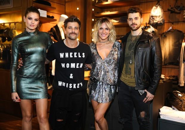Camila Queiroz, Bruno Gagliasso, Giovanna Ewbank e Alok na John John (Foto: Agência Brazil News)