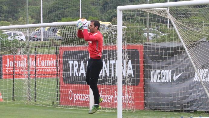 Muriel goleiro Inter (Foto: Tomás Hammes/GloboEsporte.com)