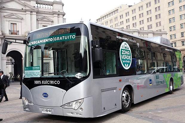 Ônibus Elétrico no Chile  (Foto: Divulgação Governo do Chile )