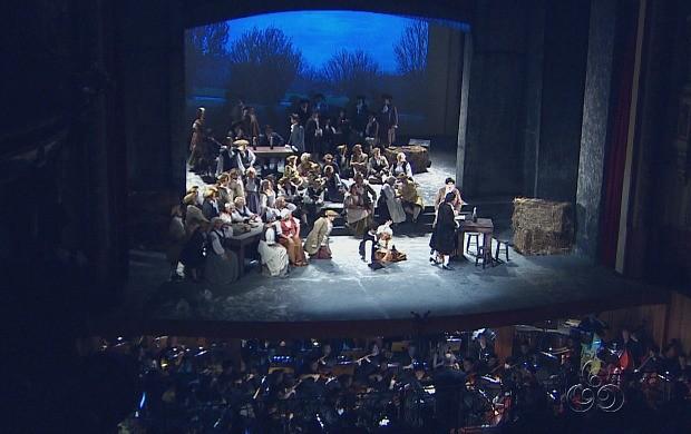 'Manon Lescaut' abriu o 18º Festival Amazonas de Ópera (Foto: Bom Dia Amazônia)