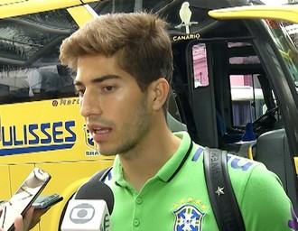 Lucas Silva, Seleção Olímpica em Belém (Foto: Reprodução/TV Liberal)