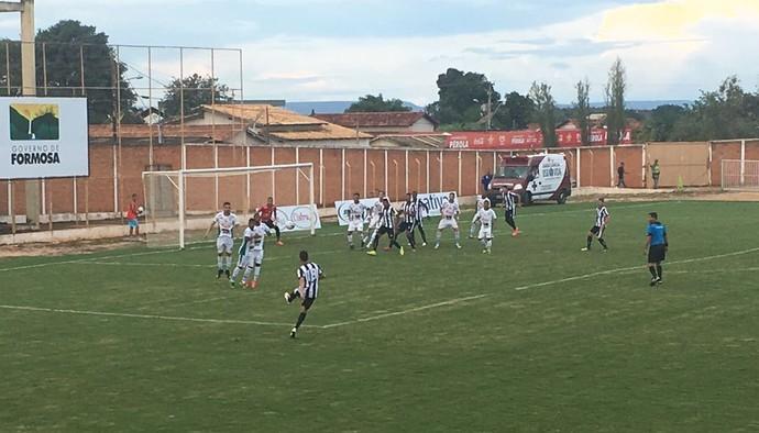 Ceilândia voltou a jogar bem e venceu o Formosa fora de casa (Foto: Divulgação / Ceilândia)