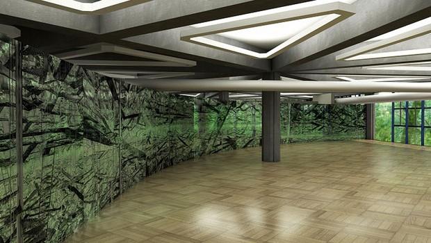 """""""Tautorama"""", de Ana Maria Tavares: diálogo entre o interior e exterior do Paço das Artes (Foto: Divulgação)"""