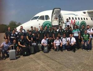 Chapecoense avião embarque Colômbia (Foto: Reprodução)