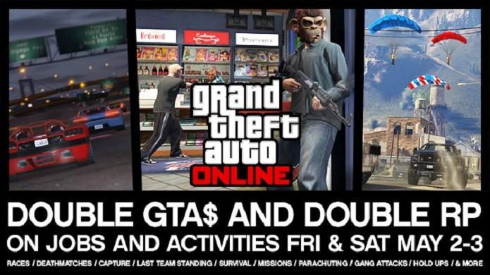 GTA Online dará recompensas em dobro até a madrugada de domingo. (Foto: Divulgação)