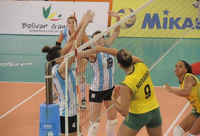 Brasil Argentina sul-americano vôlei feminino (Foto: Fabio Leme)