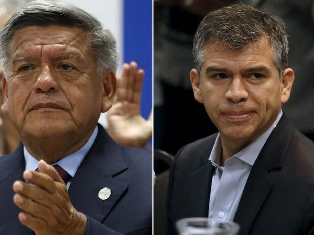 Os candidatos César Acuña e Julio Guzmán foram excluídos da campanha presidencial no Peru (Foto: REUTERS/Mariana Bazo)