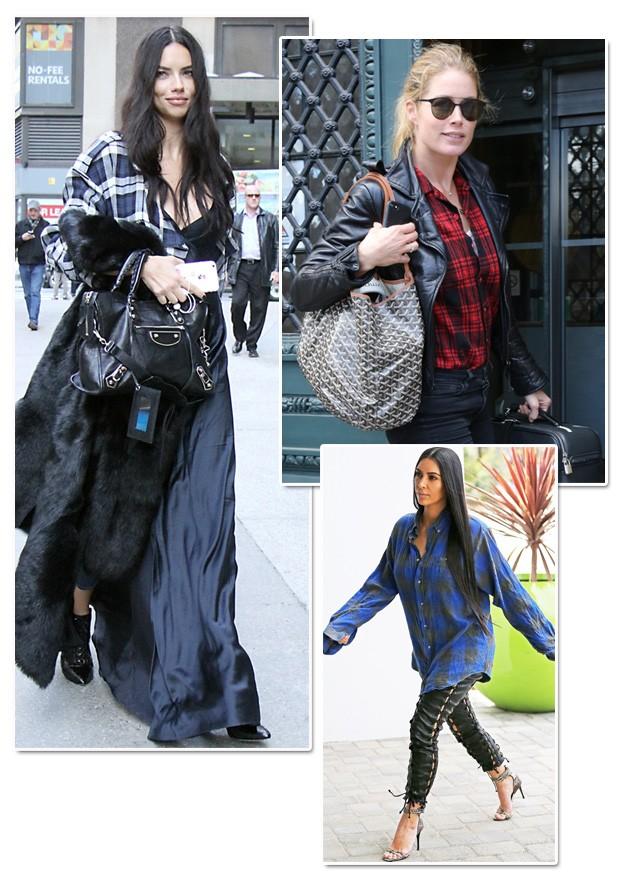 Adriana Lima, Doutzen Kroes e Kim Kardashian (Foto: AKM Images)