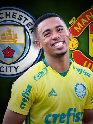 Carrossel Gabriel Jesus Manchester City e United