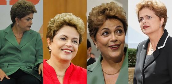 As várias faces de Dilma Rousseff (Foto: Agência Brasil e Palácio do Planalto)