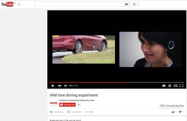 Mulheres demonstraram mais reprovação a maus comportamentos, como passar com o carro em cima do canteiro (Foto: Reprodução/YouTube IAM)