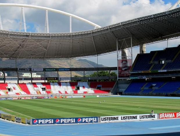 gramado estádio engenhão (Foto: Thales Soares / Globoesporte.com)
