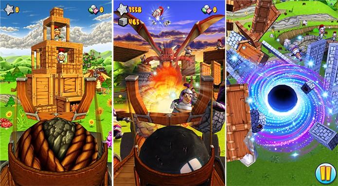 Catapult King é um game ao estilo Angry Birds com gráficos tridimensionais  (Foto: Divulgação/Windows Phone Store)