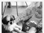 Filha de Debby Lagrannha diz primeira palavra: 'Au au'