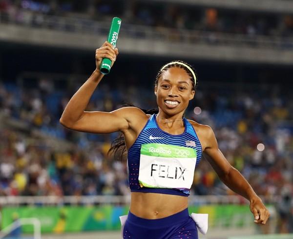 Alysson Felix na Olimpíada de 2016, no Rio (Foto: Getty Images)