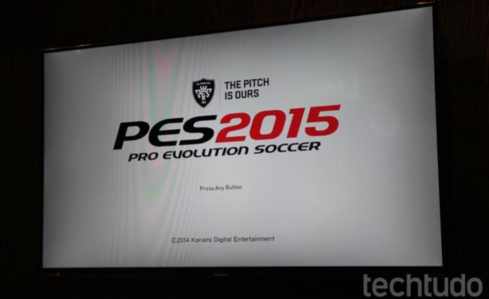 PES 2015 foi apresentado na E3 2014 e traz um game renovado (Foto: Felipe Vinha/ TechTudo)