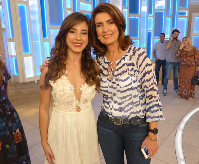 Com a convidada Irley Karian  (Foto: Viviane Figueiredo Neto / Gshow)
